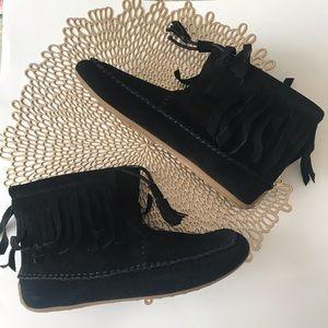 Lucky Brand women's Alixia Black suede boots Sz 9
